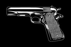 Gun Illustration. Stock Photo