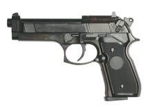 Gun isolated on white royalty free stock image