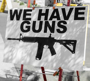 Gun issues in America concept image