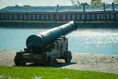 Gun in Kronstadt Royalty Free Stock Images