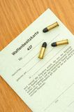 Gun licence Royalty Free Stock Photography