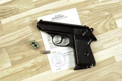 Gun licence Royalty Free Stock Photos