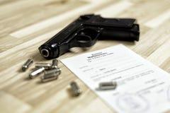 Gun licence Stock Photo