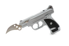 Gun Lighter with knife Stock Image