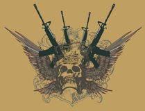 Gun line royalty free illustration