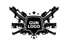Gun  logo/illustration, 100% , EPS file. Security, protection,  file Stock Photography