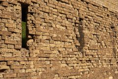Gun loopholes in the brick wall of the fortification. Of the nineteenth century The Kiev Fortress Royalty Free Stock Images