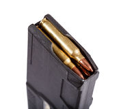 Gun magazin with ammo. Royalty Free Stock Images