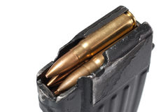 Gun magazin with ammo. Isolated Stock Photography