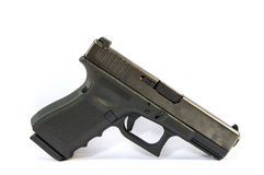 Gun. And  magazine and bullet isolate royalty free stock images