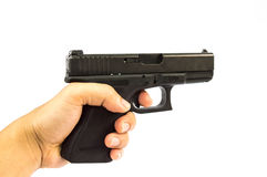 Gun. And  magazine and bullet isolate stock photos