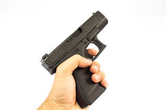 Gun. And  magazine and bullet isolate royalty free stock photos