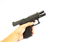 Gun. And  magazine and bullet isolate stock photo