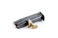 Gun magazine, silver bullets for werewolf hunts Royalty Free Stock Images