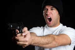 Gun Man Royalty Free Stock Photo