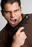 Gun Man Stock Photography