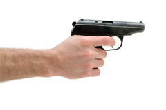Gun in a man's hand Royalty Free Stock Photography