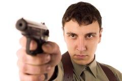 gun mannen Arkivfoton