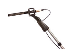 Gun Microphone on Boom Pole Royalty Free Stock Photos