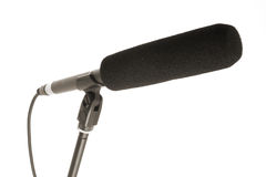 Gun microphone isolated Royalty Free Stock Photography