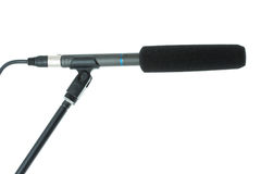 Gun microphone with windscreen Stock Image