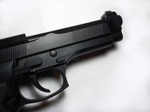 Gun. 9mm pistol, war, used by police and thugs Stock Images