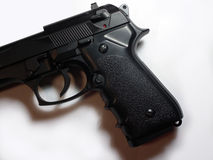 Gun. 9mm pistol, war, used by police and thugs Royalty Free Stock Images