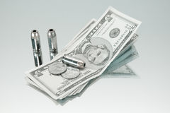 Gun Money Royalty Free Stock Photos