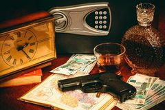 Gun money and booze