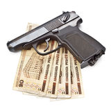 Gun And Money Stock Photos