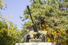 Gun Mount in Zaton park. war memorial Royalty Free Stock Photography