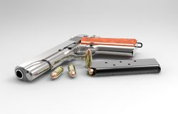 Gun and munitions Royalty Free Stock Images
