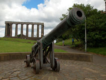 Gun and National Monument of Scotland. Stock Images