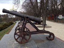 Gun. Old gun Chernigov city Park Royalty Free Stock Images
