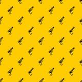 Gun pattern vector. Gun pattern seamless vector repeat geometric yellow for any design stock illustration