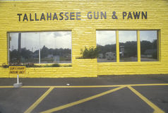 Gun and pawn shop, Tallahassee, Florida Royalty Free Stock Photos