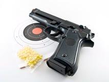 Gun pistol practice set Stock Image