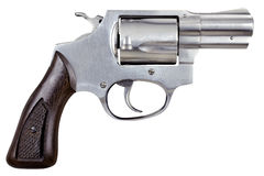 Gun Pistol Revolver Isolated On White Background Stock Photography
