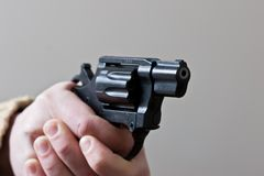 At gun point Stock Photos