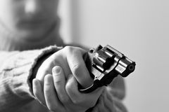 At gun point Stock Photography