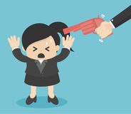 Gun point to businessman head. Eps.10 Stock Images
