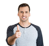 Gun pointing gesture man Stock Image