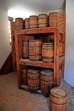 Gun powder kegs in storage Stock Image
