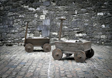 Gun Powder Wagon. Two gun powder wagons in the courtyard at the Tower of London Stock Image