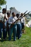 Gun practice union soldier group royalty free stock photos