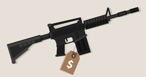 Gun price value assault rifle army weapon financial symbol  Stock Photography
