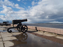 Gun on quay Royalty Free Stock Photography