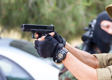 Gun ready Royalty Free Stock Images