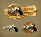 Gun, retro icon Stock Photography