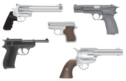 Gun and revolver illustration Royalty Free Stock Photos